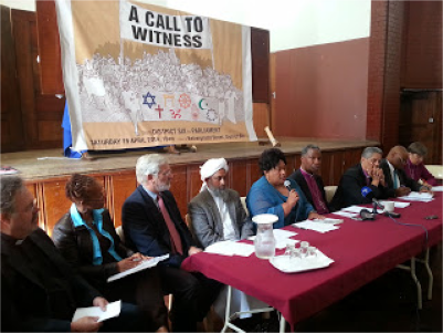 Faith leaders at a Cape Town press conference to announce a march from District Six to Parliament on Saturday  (April 19, 2014),