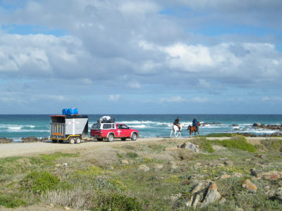 Martin and Braam with their whole rig at Cape Augulhas.