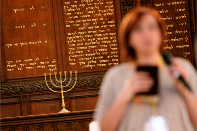 Esther...her face has been blurred for security reasons. (PHOTO: Carino Casas, Christ Church, Jerusalem).