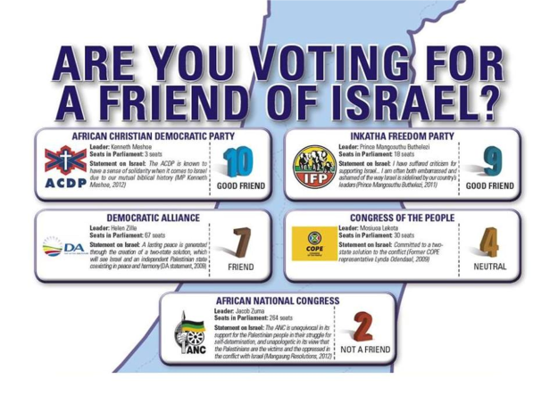 IMAGE: SA Zionist Federation Facebook Page (CLICK TO ENLARGE)