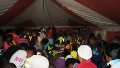 Details of new believers are collected and each receives a special follow-up booklet.