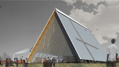The design of the proposed new building for Zandspruit Community Church.