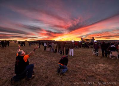 Men encountering God on the Karoo plains at KMMC 2014.
