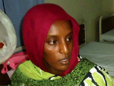 Meriam Ibrahim gave birth to a daughter in prison last month, after being sentenced to death. PHOTO:  EPA
