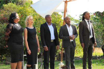 The Forte Gauteng Opera Singers provided