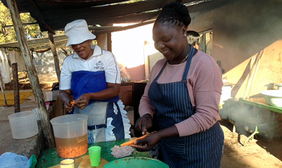 This soup kitchen is one of a number of outreaches to  people affected by the miners' strike in the Rustenburg area.