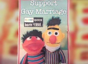A UK baker's refusal to make a gay marriage-themed cake involving Sesame Street characters Ernie and Bert has LGBT proponents up in arms (PHOTO:)