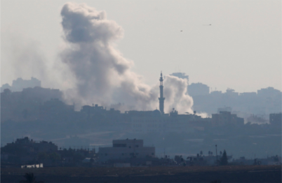 Smoke rises from an Israeli air strike in the Gaza Strip, retaliating to a missile that reached the air over Tel Aviv this week. (Reuters/Baz Ratner) - See more at: http://www.christianlifenews.com/world/43804-israel-launches-gaza-air-attack-preparing-for-possible-ground-invasion#sthash.ylguXp8E.dpuf