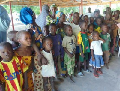 Some of the displaced children in Gulak Adamawa state. Christians in Gulak are caring for about 300 children orphaned or separated from their parents because of Boko Haram attacks. May 22, 2014 (PHOTO: World Watch Monitor)