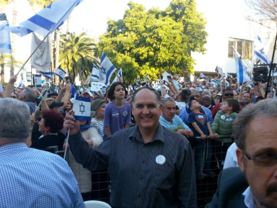 ACDP MP Steve Swart (centre front) was among the crowd of people who turned out to
