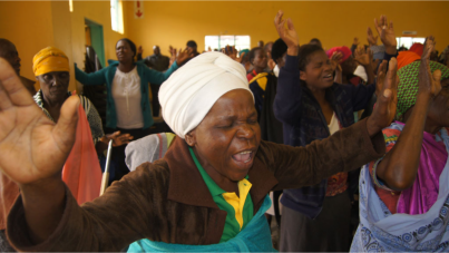 Men and women were overcome by the presence of God during the Saturday meetings.