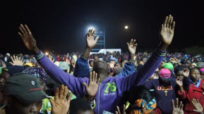 Total surrender...on day 2 of the recent Gospel crusade in Modjadji, Limpopo.
