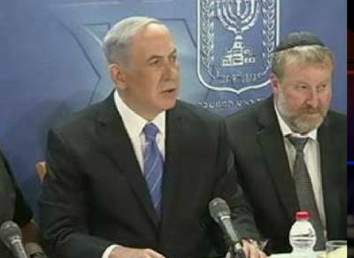 Israeli Prime Minister Benjamin Netanyahu addresses the nation. (PHOTO: CBN screenshot).