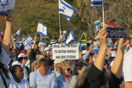 Largest-ever pro Israel rally in Africa draws over 10 000 in Johannesburg