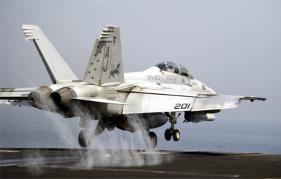 The US has used an aircraft carrier in the Gulf to launch strikes on IS