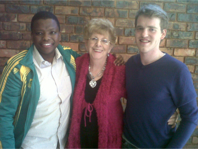 Heila Chapman (centre) with two members of a group of Christian medical students, doctors and nurses that she trained in pregnancy crisis counselling.