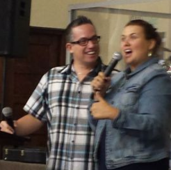 Joshua and Janet Mills sharing their marriage story in East London.