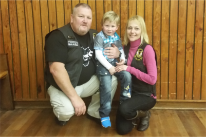 Shaun and Michelle Swiegelaar with Rayden,3, who they