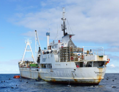 The boat on which David Cape hopes to reach Tristan DaCunha early next year.