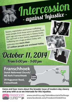 Invitation for prayer gathering to intercede for trafficked women and children