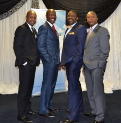 The conference speakers (from left) Dr Bonnke Shipalana, Ps Afrika Mhlophe, Ps Eddie Phetla and Dr Thabelo Malovhele ,