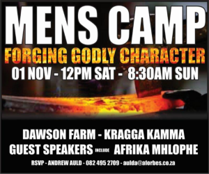 "KINGdom ""Manne"" Men's Camp in PE next Saturday"