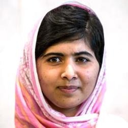 Malala Yousafzai.