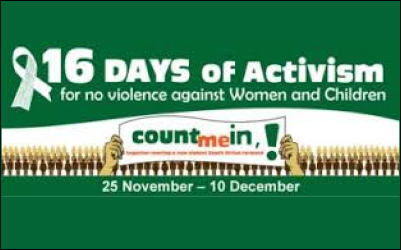 16 Days of Activism campaign puts spotlight on violence against women and children