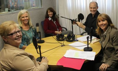 The BMDP team from the USA during a radio interview with Focus on the Family