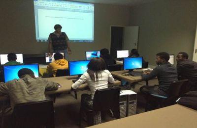 Computer training.