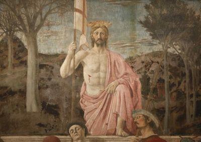 Famous painting of Jesus by Piero della Francesca in danger