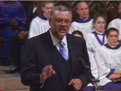 South African Ambassador to the United States Ibrahim Rasool speaking in the National Cathedral in Washington in December 2013 at the official National Memorial Service for Nelson Mandela. (Screenshot from the Washington National Cathedral website: http://www.nationalcathedral.org/exec/cathedral/mediaPlayer2013?MediaID=MED-6FKGU-470019&EventID=CAL-6FD7T-UD001E)