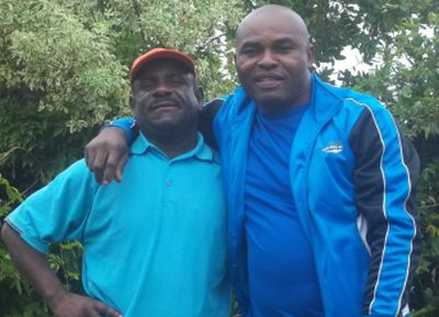 Vasco Sibanda (Tswana) & Christian Emeruwa (Nigerian), two of our first believers who are still members of our church.