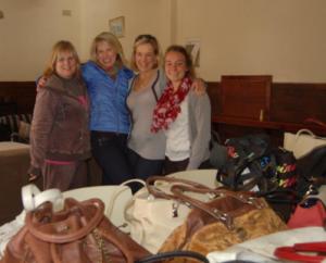 Bag Angels -- from the left, Hetty, Ann, Karen and Ash.
