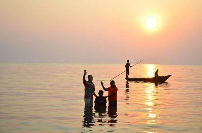 Baptism in the Democratic Republic of Congo.
