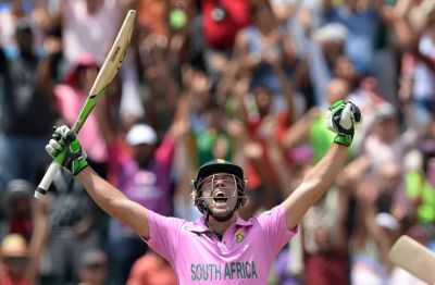 AB de Villiers struck the fastest ever ODI hundred at Johannesburg yesterday