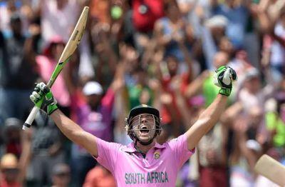 AB de Villiers struck the fastest ever ODI hundred at Johannesburg yesterday