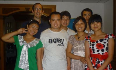 Grant with some of his university students in China.