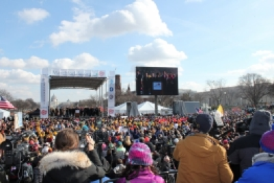 Tens of thousands of attendees came to Washington, DC on Thursday, January 22, 2015 for the annual March for Life. (PHOTO: The Christian Post).