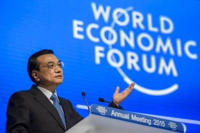 Chinese Premier Li Keqiang attends a session of the World Economic Forum (WEF) annual meeting on Jan. 21, 2015 in Davos, Switzerland. Farice Coffrini—AFP/Getty Images