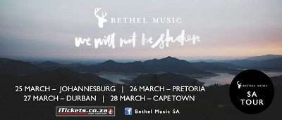 Bethel SA tour update: PE added to the tour, Cape Town tickets sold out