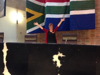 Sue Jameson releasing joy in the Constitutional Court.
