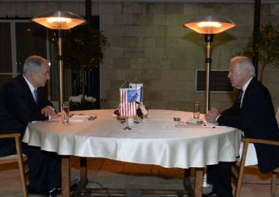 U.S. Vice President Joe Biden shares a table with Israeli Prime Minister Benjamin Netanyahu in Jerusalem in January 2013. Biden will be skipping Netanyahu's March 3 address to Congress. (Photo: Matty Stern/State Department) Read more at http://www.breakingisraelnews.com/29877/biden-snub-amplifies-obama-administrations-tension-israel-jerusalem/#sq7PS6Em4GtTyz2i.99
