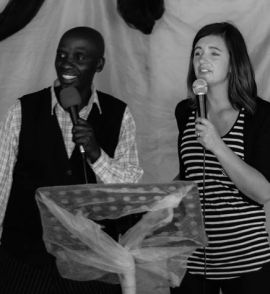 Team leader, Hayley Braun at a church in Area Q, Walmer Township, during last year's Bethel team visit.