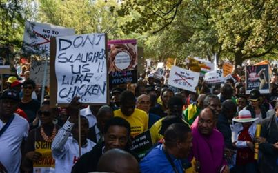 South Africans turning out in numbers to protest against xenophobia