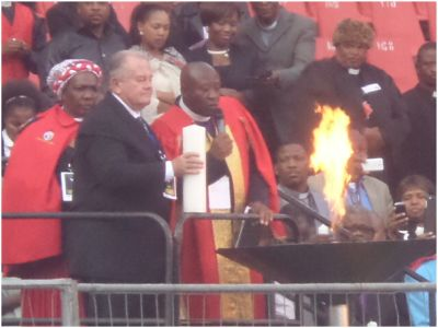 Interfaith prayers for Africa at Ellis Park