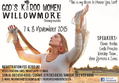 Women's turn for a Godly conference in the Karoo!