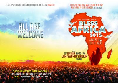 Prayer warriors to gather at Durban stadium for 12 hours next Thursday
