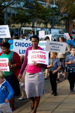 SA Christians standing for life at national conference, march and life chains