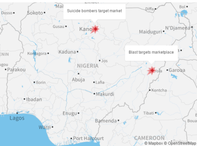 Two deadly bomb attacks in Nigeria — one involving 11-year-old girl bomber